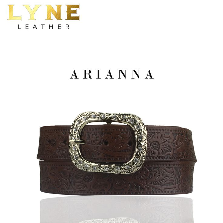 'ARIANNA' FLORAL EMBOSSED BELT. Best Australia High-Quality Genuine Leather Belt with a strong and reliable floral buckle. Discover more of it's fascinating features. #fashion #australia #leather #belt