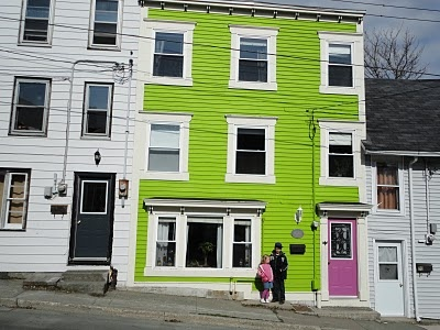 i love to live in st. john's because we have lime green houses!