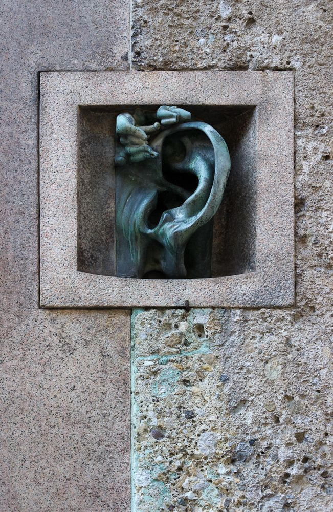 House-phone, Sala Busca house in Via Serbelloni 10, Milan, Italy (by sculptor Adolfo Wildt)