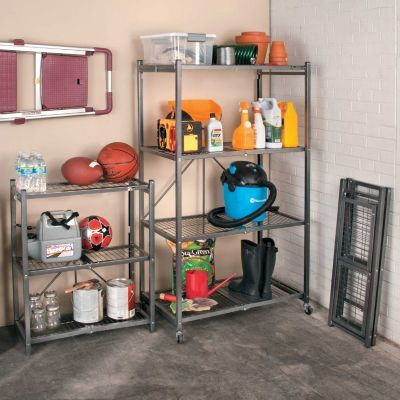 foldable heavy duty shelf storage for small spaces