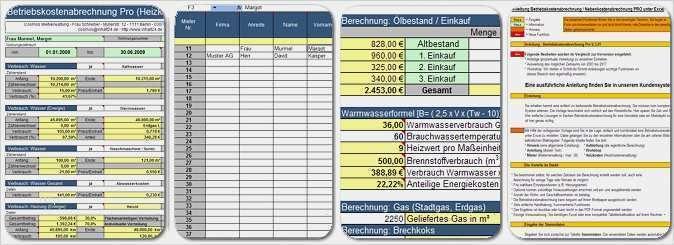 Nebenkostenabrechnung Muster Vorlage Fur Excel 10
