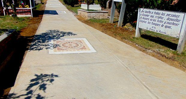 Realizan mejoras y pavimentan pasillo principal del Panteón en Metepec Atlixco – Metepec Atlixco Puebla
