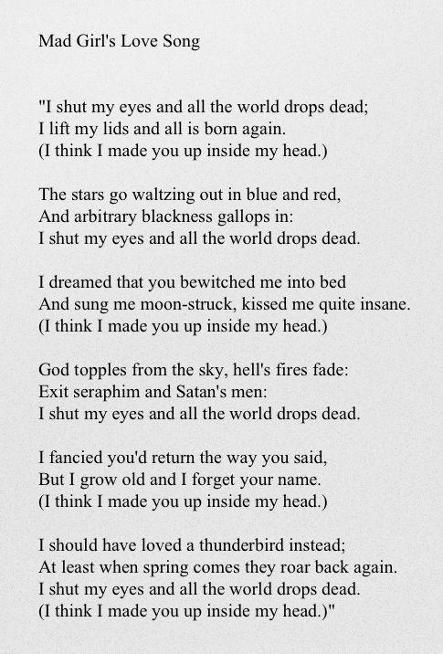 Mad Girl's Love Song - Sylvia Plath