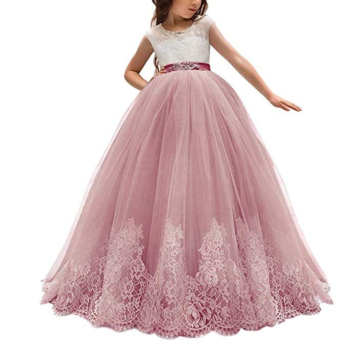 Amazoncom Little Big Girl Flower Lace Dress For Kids