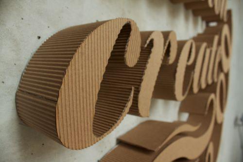 3D Cardboard Typography - My Modern Metropolis