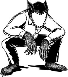 Werewolf Drawings and ZombiesTo Darken Your Day!