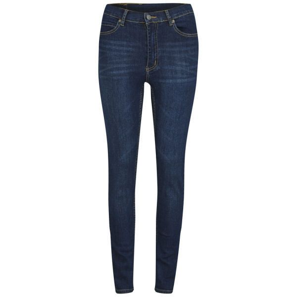 Cheap Monday Women's Second Skin High Waisted Skinny Jeans - Credit... ($76) ❤ liked on Polyvore featuring jeans, pants, bottoms, trousers, skinny jeans, blue, dark blue skinny jeans, blue jeans, skinny leg jeans and high-waisted skinny jeans