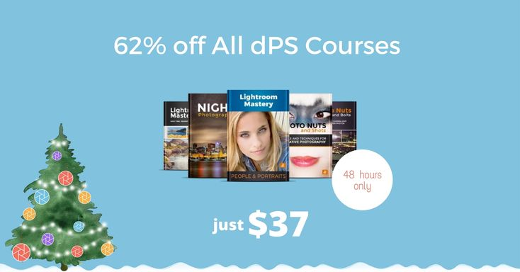 We're nearly at the end of our popular Christmas sale and we're really excited to offer you today's deal, because we love helping people discover how to take great photos. We're offering our entire range of online photography courses at a massive 62% OFF. These courses are normally $99, but today you can get any …For more photo tips and tricks, visit http://robflorexplore.com.