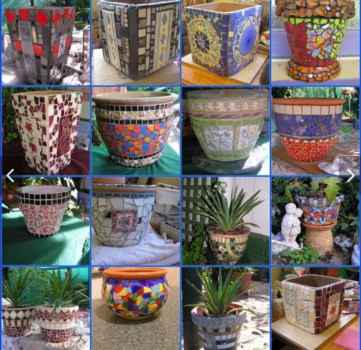 Mosaic Pots For 2009