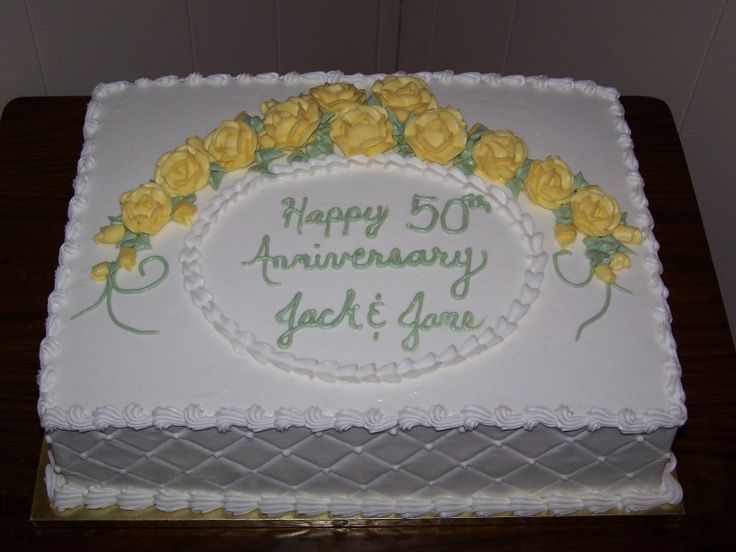 anniversary cakes/buttercream | This cake is iced and decorated in buttercream.