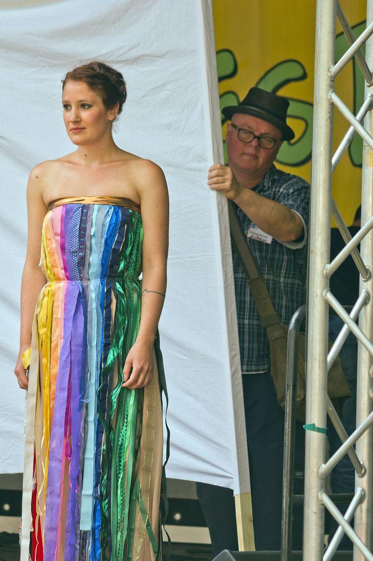 Modenschau auf dem Sommerfest 2013 der Berliner Stadtmission.