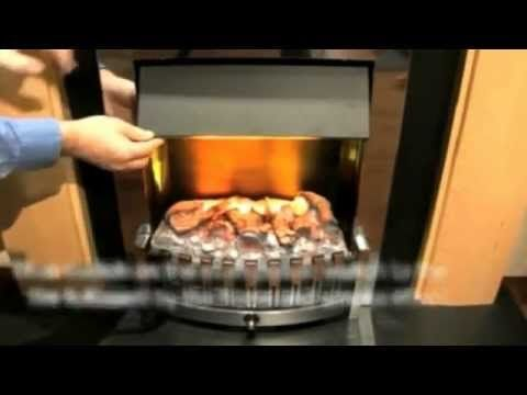 The most realistic effect for flames and smoke in an electric fire uses water to produce the illusion. Here's a demonstration of how the Opti-myst works.