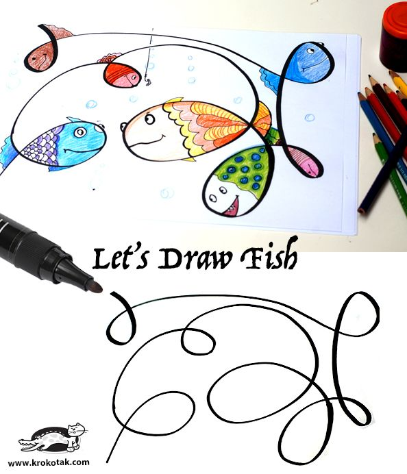This is good for consantration of every age. Let's Draw Fish