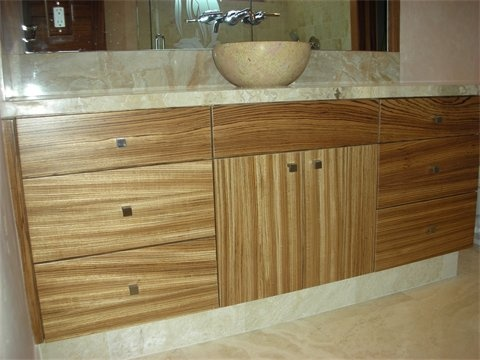High Quality Tiger Wood Cabinets