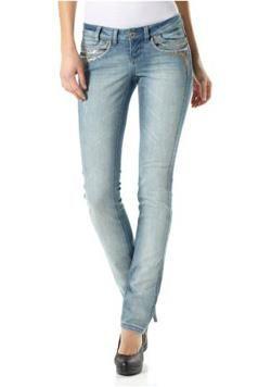 Бирюзовые джинсы женские