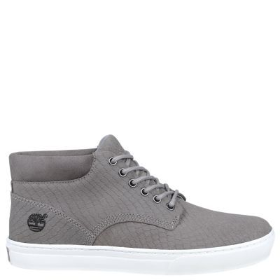 Timberland Men's Adventure Cupsole Chukka Shoes (Grey Embossed Suede)