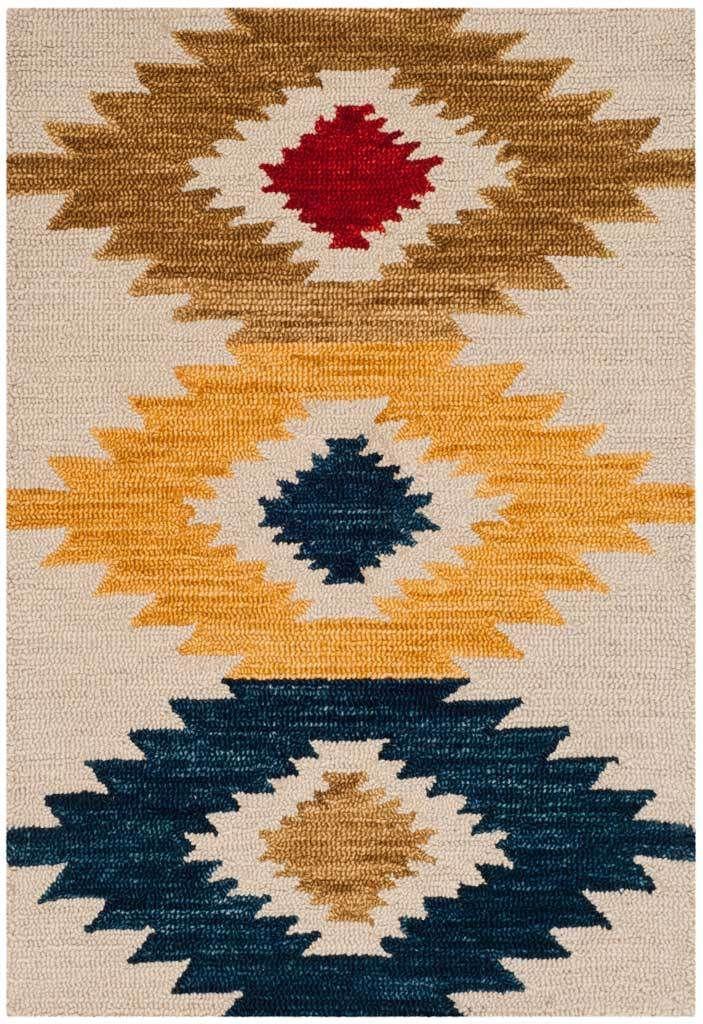 Aspen Ivory Multi Area Rug Southwestern Area Rugs Hand Tufted Rugs Navajo Pattern