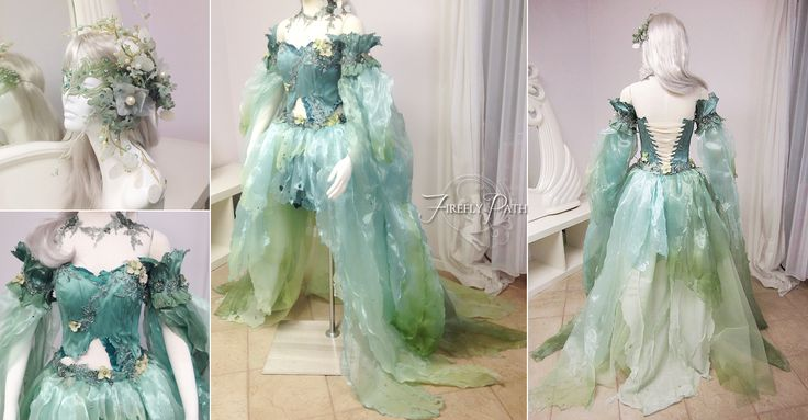 Seafoam Fairy Dress by Lillyxandra.deviantart.com on @DeviantArt