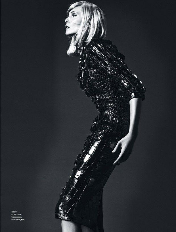 Nadja Auermann by Arcin Sagdic for Vogue Ukraine