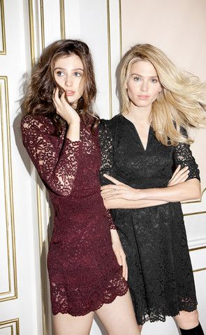 AW 15 – byTiMo Lace dress in burgundy