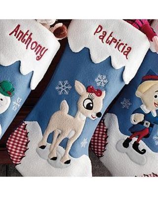 Personal Creations Personalized Rudolph Character Stocking - Clarice - Christmas Stockings from Personal Creations | BHG.com Shop