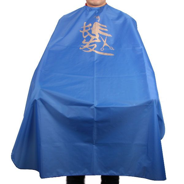 Nieuwe Salon Kappers Kapper Hair Snijden Cape Blauw Chinese Ontwerp Barber Gown Doek Voor Haar Styling Tools