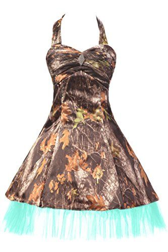 Sunvary Military Camouflage Tulle Mini Pageant Party Homecoming Prom Dresses Bridesmaid Size 18W Camouflage and Aqua ** Read more reviews of the product by visiting the link on the image.