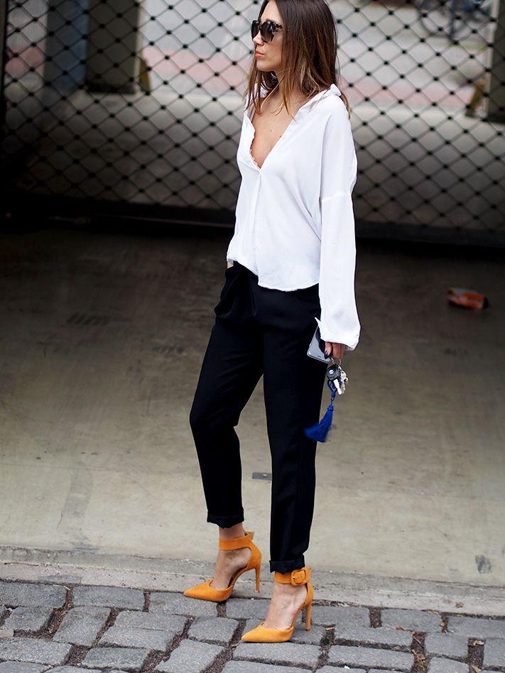 blogger style orange heels pumps ootd magazine bloglovin blogwalk stylight lookbook stylebook blogstars