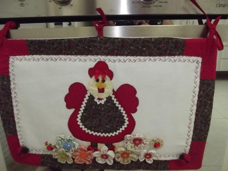 Linda peça para deixar a sua cozinha ainda mais bonita:  panô para porta do forno do fogão .  Consulte sobre padronagem (estampas) dos tecidos.      .