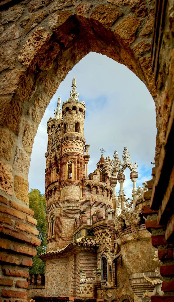 Colomares castle, a monument dedicated to Christopher Columbus and his arrival to the New World, Benalmadena, Andalusia, Spain