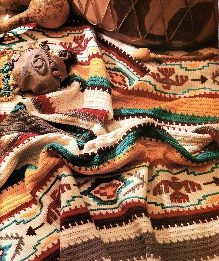 86 best Crochet Native,Navajo,Indian Afghans images on Pinterest ...