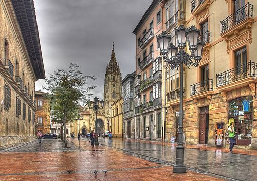 La calle de la catedral - Oviedo, Spain
