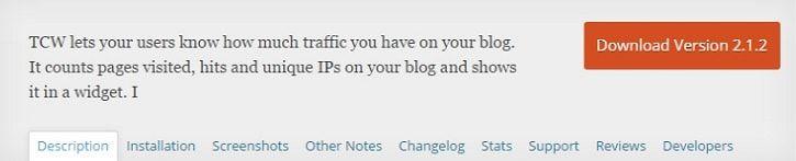 traffic counter widget