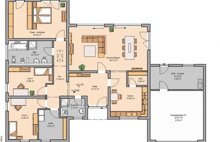 Das Bungalow Trio von KHC Bauträger GmbH hat eine Wohnfläche von 163m². Preis ab: 350500€. Jetzt auf Massivhaus.de ansehen.