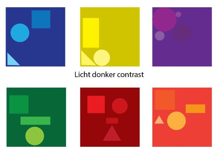 Licht donker contrast