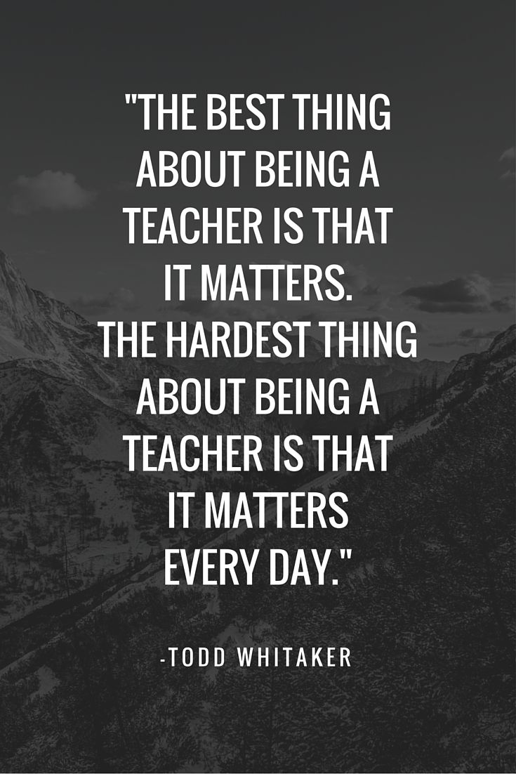 25+ best Inspirational quotes for teachers on Pinterest ...