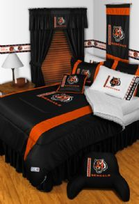 78 images about boys nfl football logo bedding and for Black white and orange bedroom