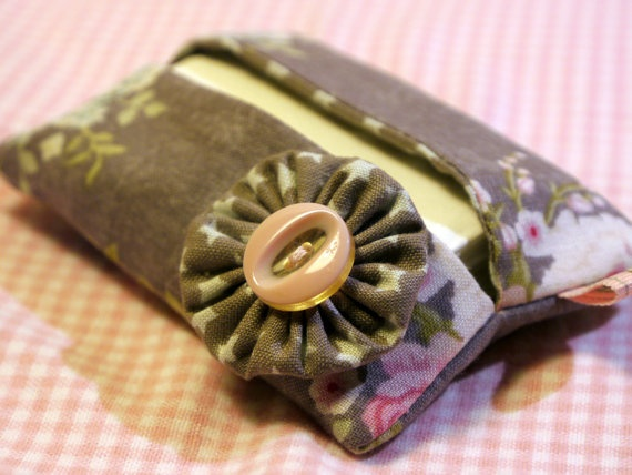 Tissue holder with lovely Tilda fabric