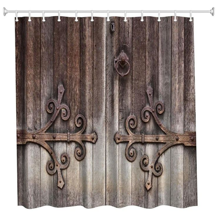Carving Door Polyester Shower Curtain Bathroom Curtain High