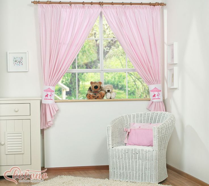 "Pink curtains ""Carousel"" / Bobono"