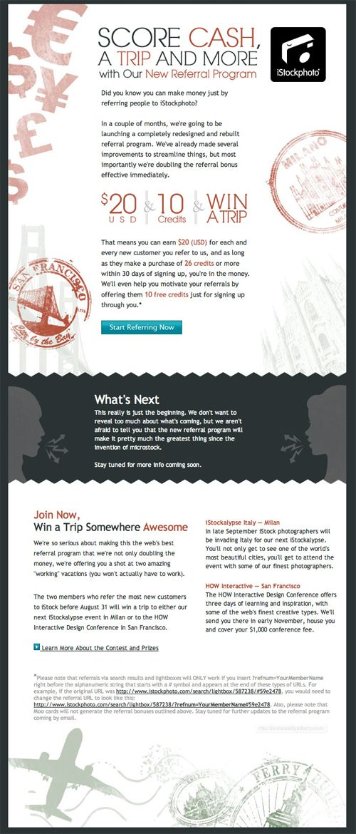 Beautiful Email Newsletters » Blog Archive » Score Cash