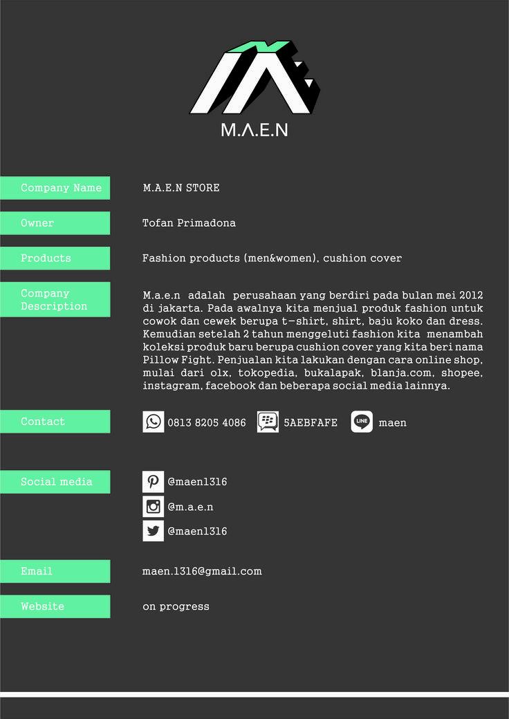 m.a.e.n #logo #corporateid #companyprofile #design