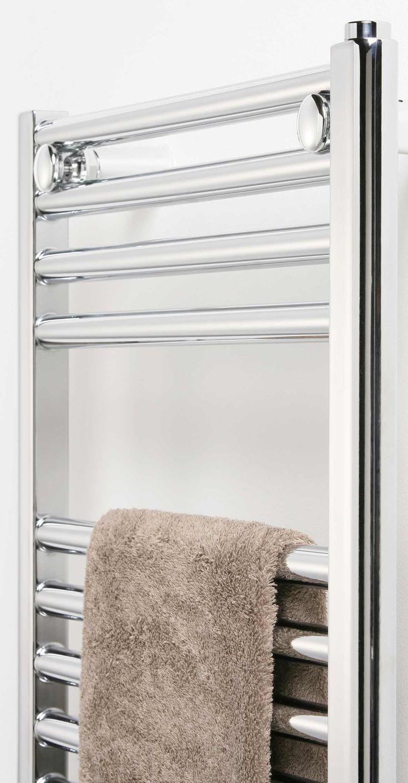 Ultraheat Chelmsford Straight Chrome Towel Rail 700mm x 420mm