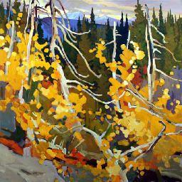 "'Autumn Tangle' by Canadian Artist Brian Atyeo. Acrylic on Canvas, 48""x48"" #CanadianArt"