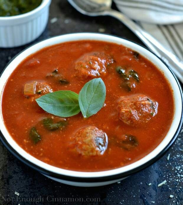 Italian meatball tomato soup | recipes | Pinterest