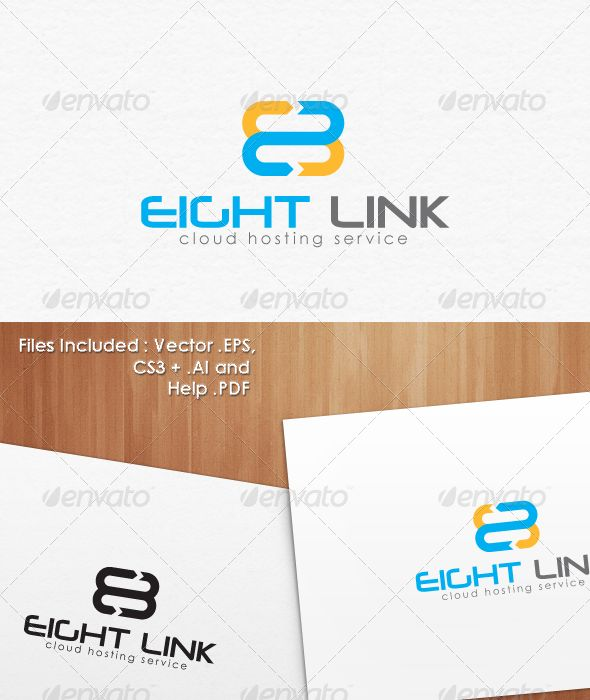 8 Eight Cloud Hosting Logo Template