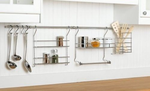 lots of uses: Kitchens, Idea, Kitchen Storage, Closetmaid 3059, Organizers, Organizer Rail, 3059 Kitchen