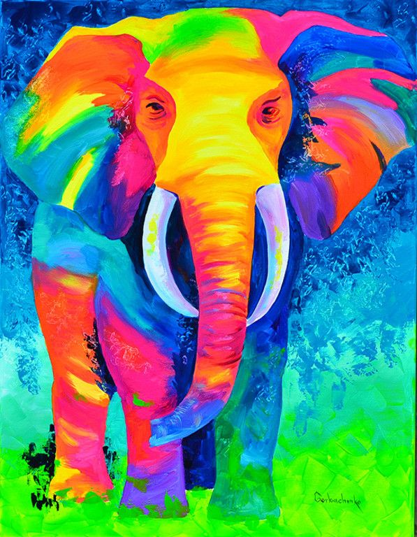 17 best ideas about colorful elephant on pinterest elephant art