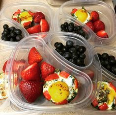 Meal Prep - Breakfast:  Baked egg cups with kale and bell peppers + fruit