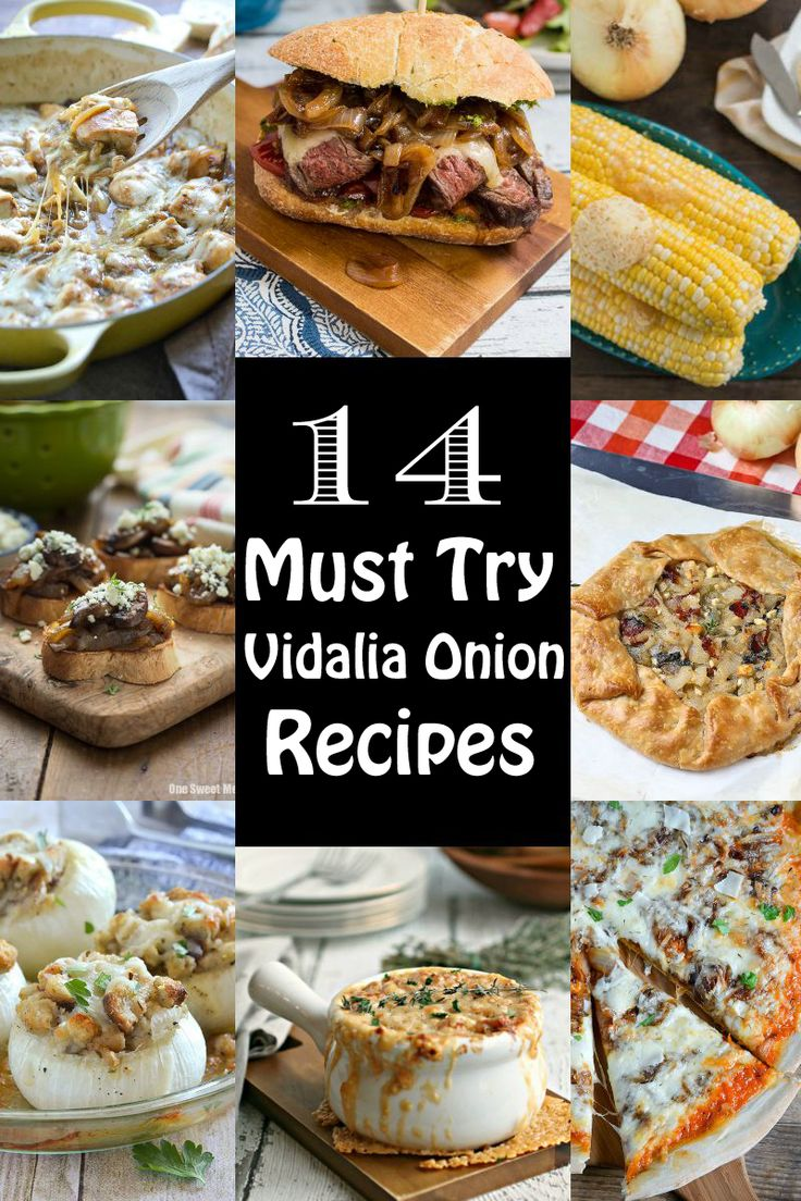 14 Must Try Vidalia Onion Recipes — The best recipes from pizza to dip that you don't want to miss! I L-O-V-E Vidalia onions. I love them raw in a salads & caramelized on just about anything. Their distinct sweetness makes them a favorite for so many people. I had a chance to visit the Vidalia onion fields in Georgia. I was in Vidalia onion heaven. Fields & fields of Vidalia onions. You could smell the sweetness in the air!